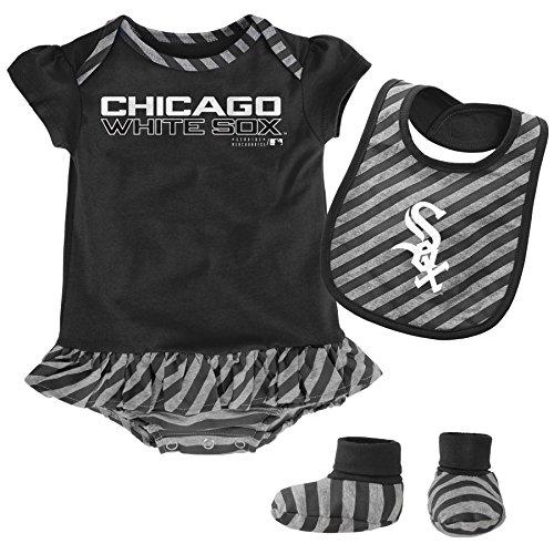 MLB Chicago White Sox Newborn Girls Bib & Booty-3/6 Months, Black