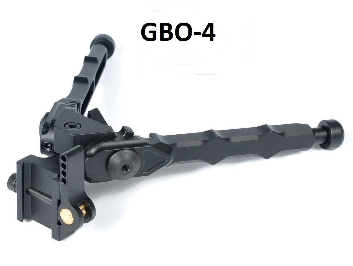 Green Blob Outdoors (GBO-4) Bolt Action Rifle Bipod Black Tactical Bipod 5.3 Inches Adjustable