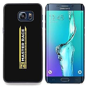 "Qstar Arte & diseño plástico duro Fundas Cover Cubre Hard Case Cover para Samsung Galaxy S6 Edge Plus / S6 Edge+ G928 (Race Master"")"