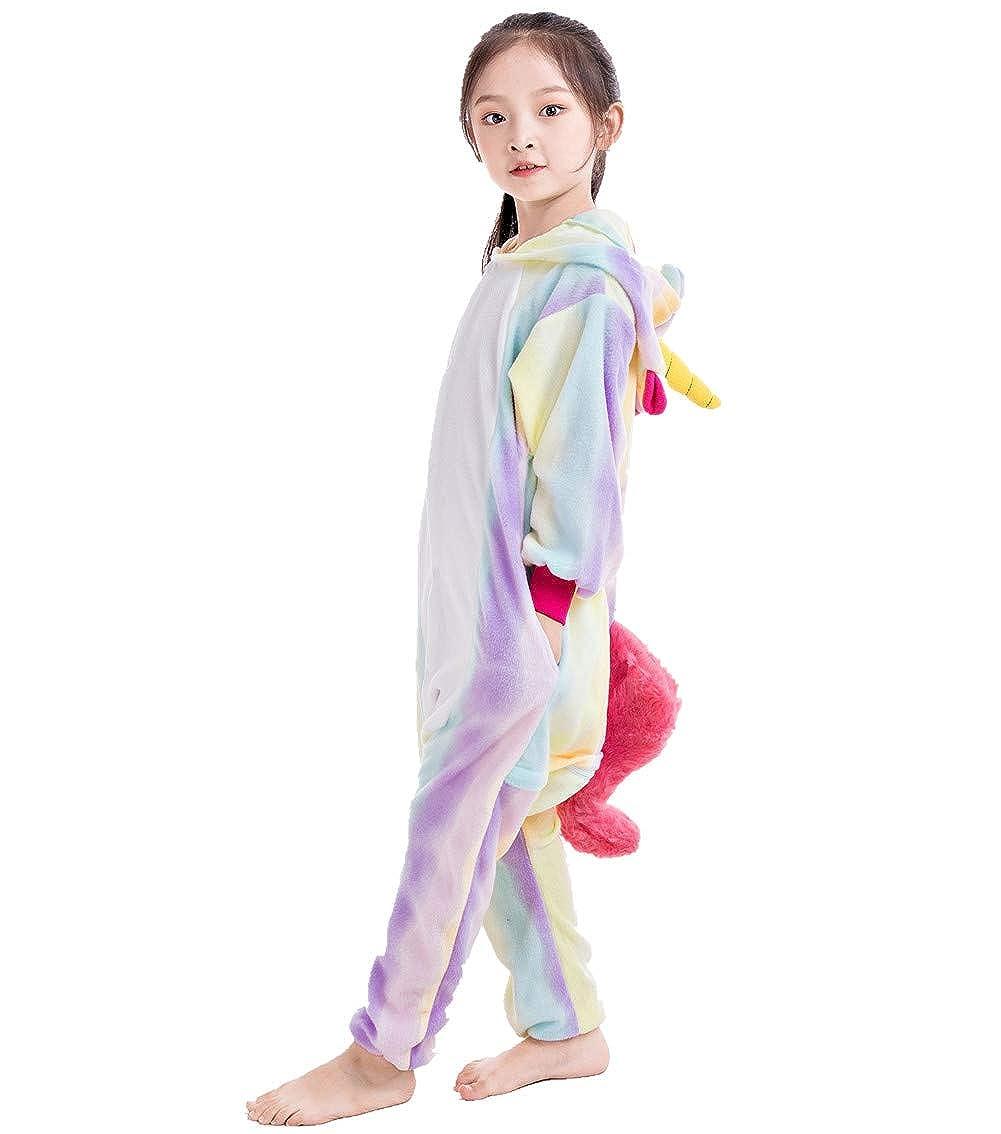 NEWCOSPLAY Unisex Children Unicorn Pyjamas Halloween Costume