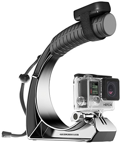 GoWorx The Original Handle Pro+ for Gopro Hero Cameras, Anodized Silver