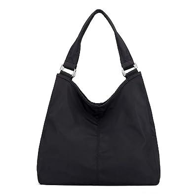 8472781ad2e8 ABLE Big Capacity Nylon Waterproof Handbag Shoulder Bag (black ...