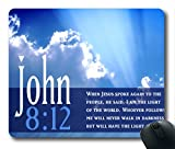 Inspirational Bible Verse Quotes John 8:12 Oblong Mouse Pad in 240mm*200mm*3mm VQ0711002