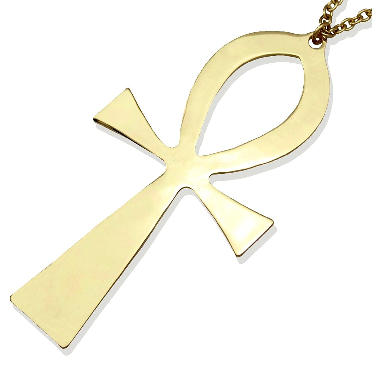 Amazon gold plated vintage egyptian cleopatra symbol of life amazon gold plated vintage egyptian cleopatra symbol of life big ankh cross pendant long chain sweater necklace34 jewelry buycottarizona Image collections