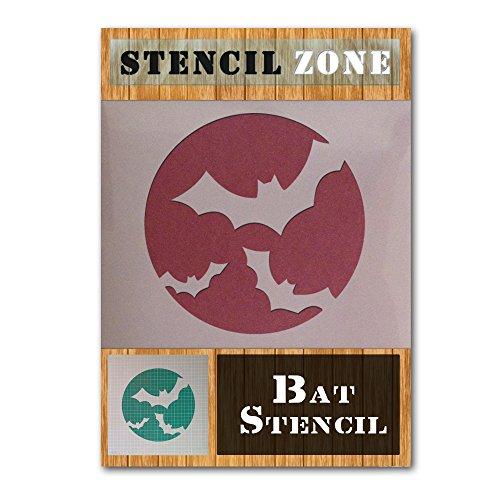 Bat Halloween Mylar Painting Pumpkin Wall Art Stencil Seven (A2 Size Stencil - Large) ()