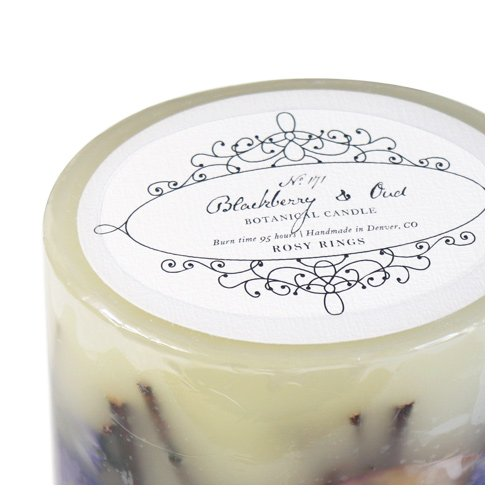Rosy Rings Botanist Botanical Candle – Blackberry & Oud