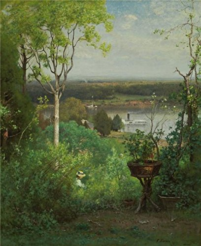 Oil Painting 'George Inness,Looking Over The Hudson At Milton,1886-1888' Printing On Perfect Effect Canvas , 16x20 Inch / 41x50 Cm ,the Best Powder Room Gallery Art And Home Decoration And ()