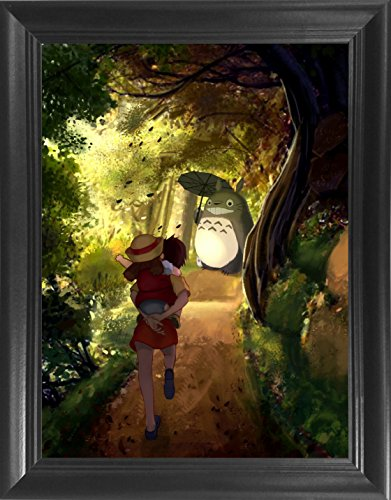 My Neighbor Totoro - Hayao Miyazaki Japanese Anime Framed 3D Lenticular Poster - 14.5x18.5