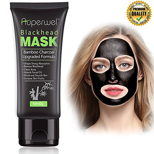 All Natural Charcoal Blackhead Mask Made With 2: Auperwel Blackhead Remover Mask, Strong Black Mask