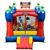 Blast Zone Magic Castle Heavy Duty Inflatable Bounce House w/Blower