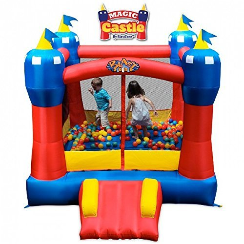 Blast Zone Magic Castle Inflatable Bouncer]()
