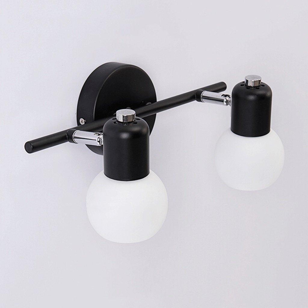 QZz Home® Fer Verre Retro Chambre Miroir Front lampe (taille : 30cm)