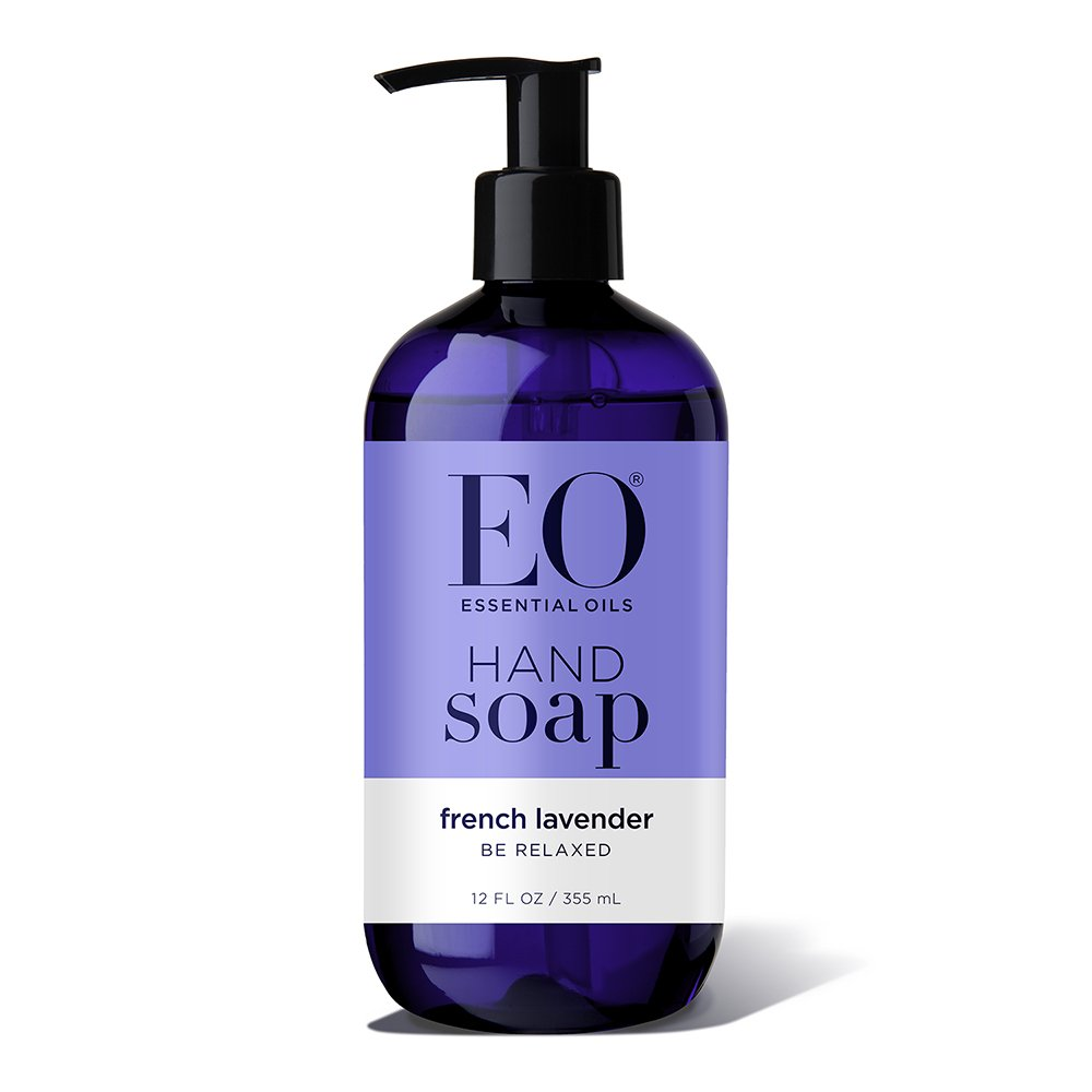 EO Botanical Liquid Hand Soap, French Lavender, 12 Ounce (Pack of 3)