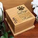 GiftsForYouNow Wooden Engraved Pet Memorial Urn