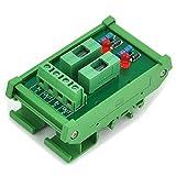 Electronics-Salon 2 Channel Fuse Interface Module, for DC 5~48V, Din Rail Mount, w/ Fail Indicator