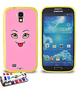 Carcasa Flexible Ultra-Slim SAMSUNG I9500 / GALAXY S4 de exclusivo motivo [Linda monstruo rosado] [Amarillo] de MUZZANO  + ESTILETE y PAÑO MUZZANO REGALADOS - La Protección Antigolpes ULTIMA, ELEGANTE Y DURADERA para su SAMSUNG I9500 / GALAXY S4