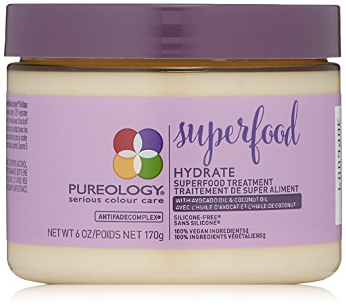 (Pureology Hydrate Superfood Treatment Hair Mask for Dry Hair, 6 oz.)