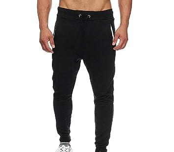 ZHNELYJ Pantalones de Hombre, Pantalones de Jogging de Fondo Liso ...