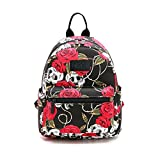 Fvstar Skull Cute Teen Girls Canvas Backpack Mini School Bag Purse Women Daypack for Travel