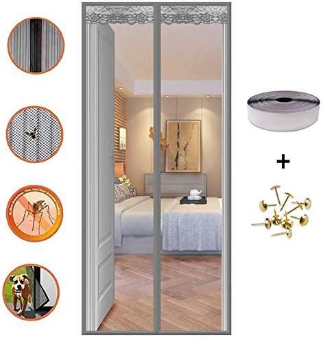 COAOC Mosquitera MagnéTica, con Malla Super Fina para Mantiene Los Mosquitos De Insectos Fuera para Puertas Correderas/Balcones/Terraza - Gris 70x200cm(28x79inch): Amazon.es: Hogar