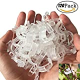 SUNHE 120 Pcs Plant Support Garden Clips for Garden Tomato Vegetables Vine to Grow Upright and Makes Plants Healthier (White)