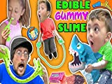 Edible Gummy Slime Nerds Candy Jump Rope With Shark Board Game Family Night