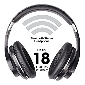 Bluetooth Over-Ear Headphones,Mixcder ShareMe 5 Hi-Fi Stereo Headsets with Built-in Mic, Foldable and Comfortable,Wireless and Wired modes for Cell Phones/PC/Smart TV