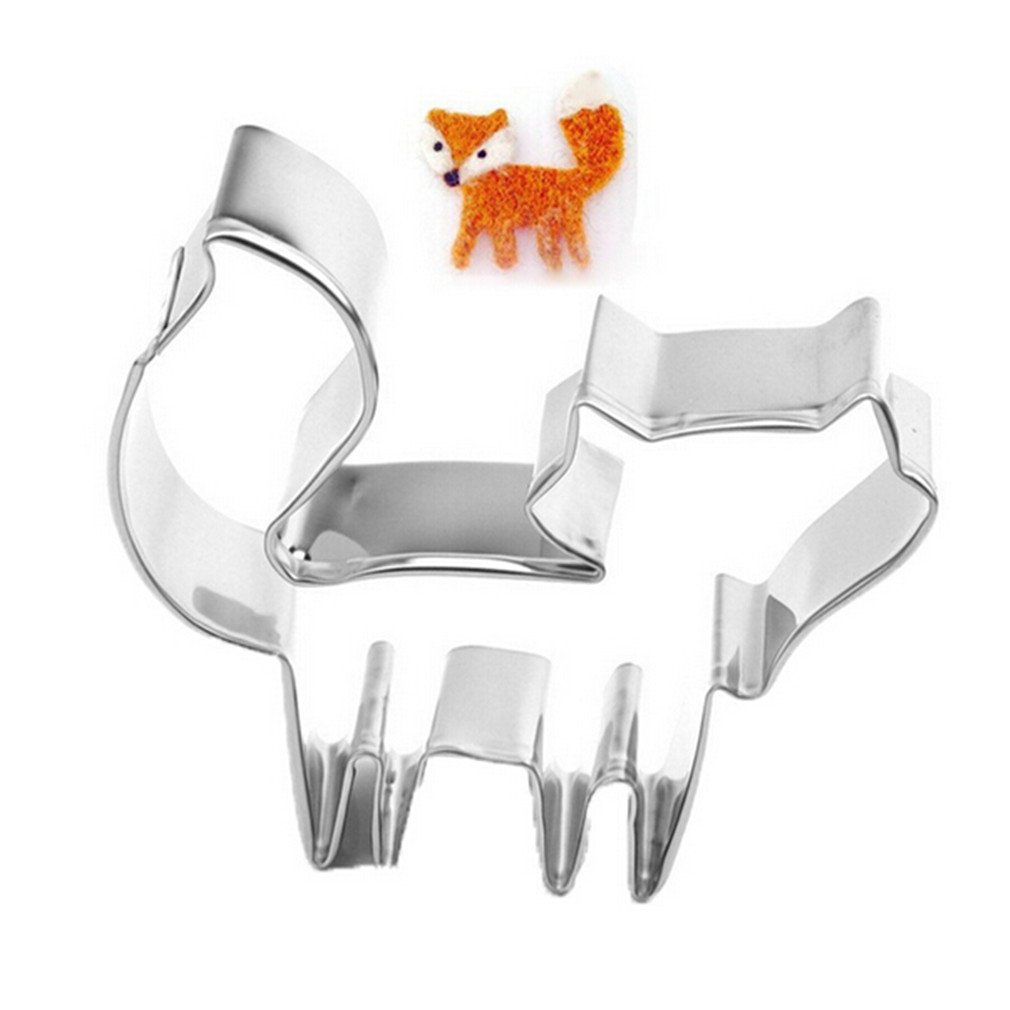 VWH Stainless Steel Cookie Cutter Biscuit Mold Cake Decoration (fox)