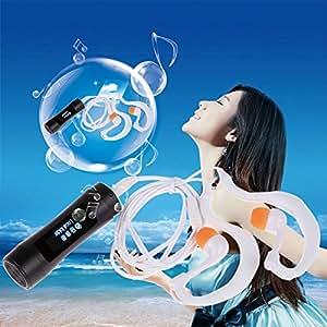 ARBUYSHOP de aluminio a prueba de agua Reproductor de MP3 de 4 GB Pantalla LED de deportes acuáticos con radio FM para nadar el salto portátil de audio del envío libre