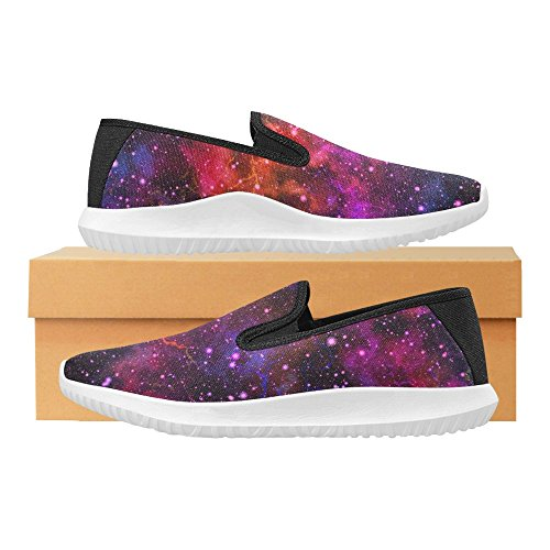 Space On Night Starry colorful Universe 1 Outer Multi Nebula Abstract Sneakers InterestPrint Shoes Canvas Sky Fashion Slip Womens Loafer qIPw8A