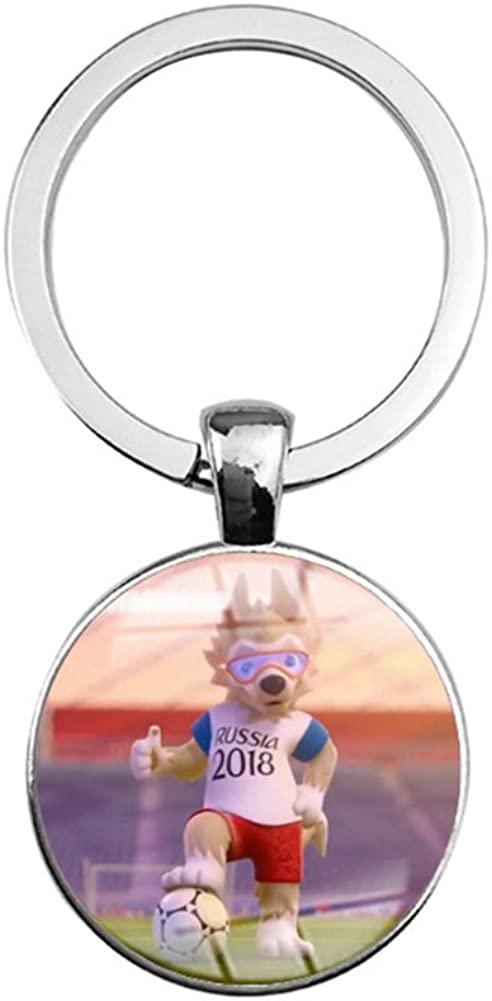 Cute Cartoon 2018 Russia World Cup Pattern Key Chain Key Ring Bag Decoration