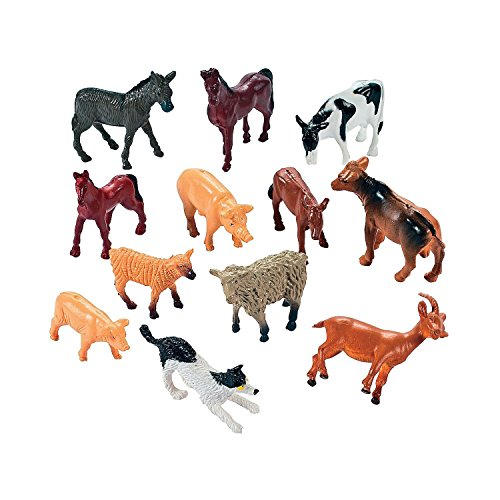 Farm Animals Vinyl - Pack Of 12 – Assorted Mini Farm Animal Figures – For Kids Great Party Favors, Giveaways, Fun, Toy, Gift, Prize – By ()