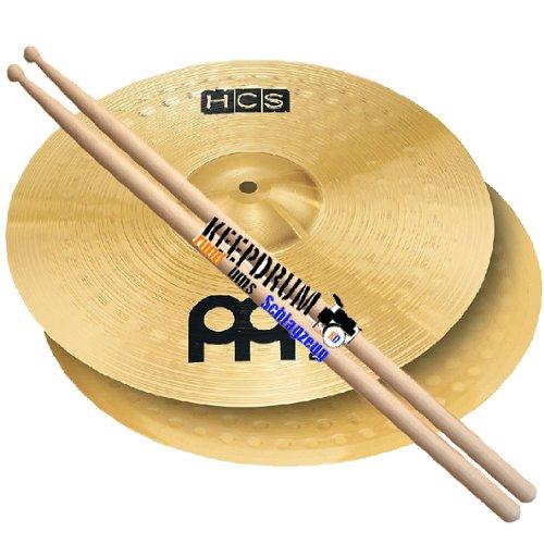 Meinl HCS14H HCS 14 Hi Hat Becken +Keepdrum Drumsticks GRATIS!!! meinl hcs beckenset 141620