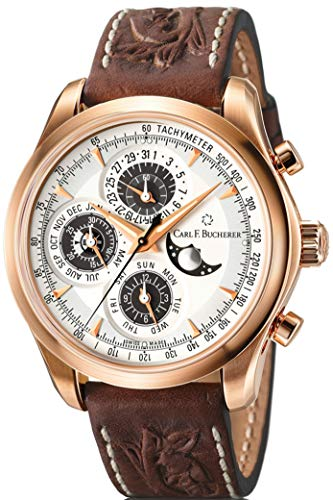Limited Edition Carl F Bucherer 18K Rose Gold Manero Chronograph Perpetual Automatic