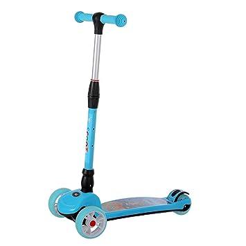 LGLE Patinete Scooter Infantil Simple Plegable Full Flash PU ...