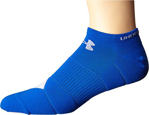 Under Armour Men's UA Launch No Show Running Socks, Ultra Blue/White,  MD 9-11 (Men's Shoe - Md Outlet In Mall