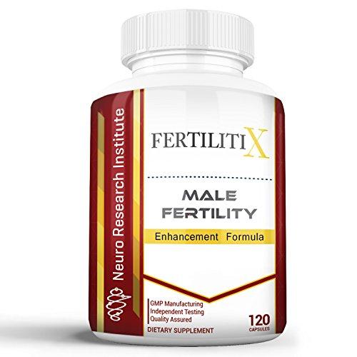 FertilitiX Amélioration de la Fertilité Masculine Formule | Améliorer la Qualité des Spermatozoïdes, la Motilité et le Volume (120 Capsules)