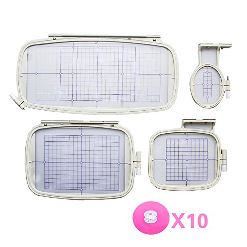 Embroidery Hoop 4 set for Brother MachinesPE-770 700 700I...