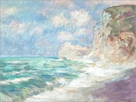 Poster 40 x 30 cm: Cliff at Port d'Amont by Claude Monet art print, new art poster POSTERLOUNGE