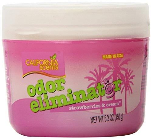 - California Scents Odor Eliminator, Strawberries & Cream, 5.2-Ounce Jars (Pack of 12)