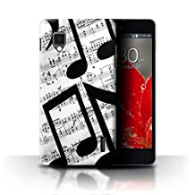 STUFF4 Phone Case / Cover for LG Optimus G E975 / Music Sheet/Melody Design / Black Fashion Collection