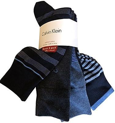 Calvin Klein Men's Dress Socks 4 Pack Patterned Navy