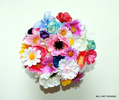 FLORAL TOOTHPICKS, Wedding, Party, Luau, Luncheon, 2.5 to 3 inch Tall, Bell Art Designs, FTP0003 for $<!--$9.48-->
