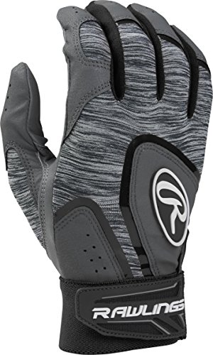 Adult Batting Gloves (Rawlings 5150 Baseball Batting Gloves, Adult Large, Black)