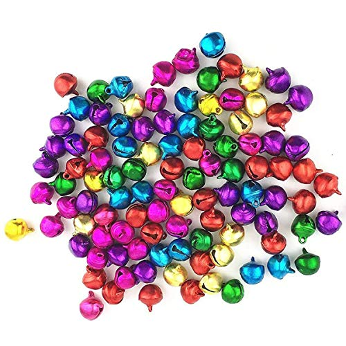 - LaVieEnRose 100pcs 6mm For Christmas Copper Made Fashion Jingle Bell/ Small Bell/ Mini Bell for DIY Bracelet Anklets Necklace Knitting/ Jewelry Making Accessories (Random Color)