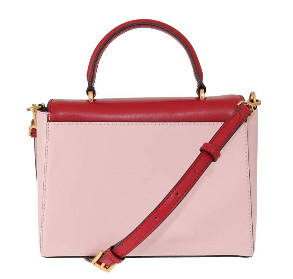 Michael Kors Red Pink Mindy Satchel Crossbody Bag  Handbags  Amazon.com d1372589617d8