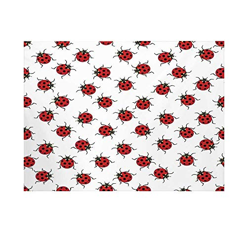 Ladybugs Photography Background,Ladybugs Pattern Bunch of Bugs Infinite Speckled Marked Insect Theme Playroom Kids Backdrop for Studio,8x7ft ()