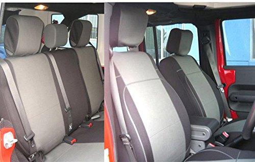 GEARFLAG Jeep Wrangler JK Neoprene Seat Cover Full Set