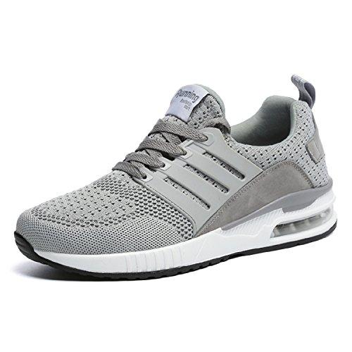 Fitness Sneakers all'Aperto Donna tqgold Grigio Scarpe Uomo Sportive da Basse Interior Tennis Running Ginnastica ZBqvBn8