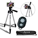 "Photo : Acuvar 50"" Inch Aluminum Camera Tripod with Universal Smartphone Mount and Wireless Remote Control Camera Shutter for All Smartphones"